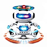 Walking Dancing Robot Toys for Kids - 360° Body Spinning Robot Toy with LED Lights Flashing and Music – Smart Interactive Electronic Singing, Toy for Toddler Boys and Girls
