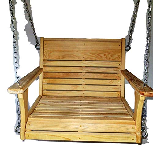 Cypress Porch Chair Swing, Larger Chair Swing, Super Swing, Larger Adult Swing