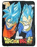 Dragon Ball Super Goku Saiyan Blue God Soft and Plush Fleece Throw Blanket