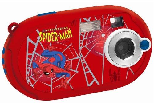 Lexibook DJ028SP Spider-Man Appareil photo numérique 5 mégapixels, écran 3,6 cm (1,4), mémoire interne 8 Mo (Rouge, motif Spider-Man)