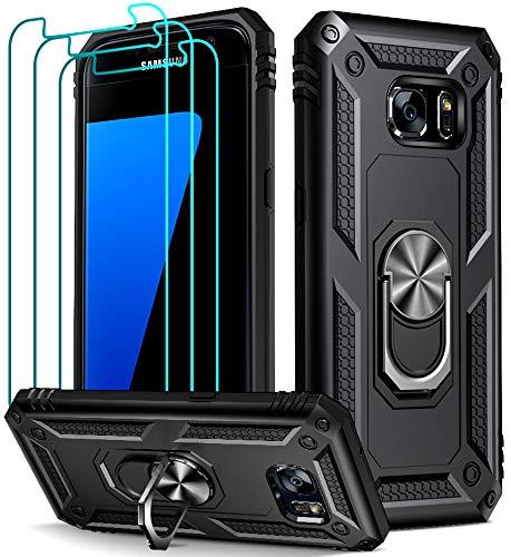 ivoler Funda para Samsung Galaxy S7 con [Cristal Vidrio Templado Protector de...