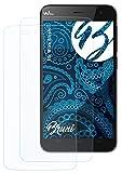 Bruni Schutzfolie kompatibel mit Wiko Bloom Folie, glasklare Bildschirmschutzfolie (2X)