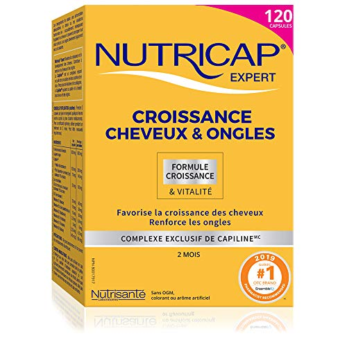 NUTRISANTÉ Nutricap Expert Women, Hair & Nail Growth, Supplement for Women, All Natural, 120 Capsules