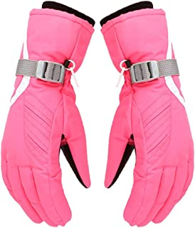 Insulated Winter Professional Ski Gloves Girls Boys Adult Waterproof Cold Weather Gloves Adult Keep Warm Waterproof Windpr...