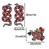 Immagine 1 patch di serpente rose toppa