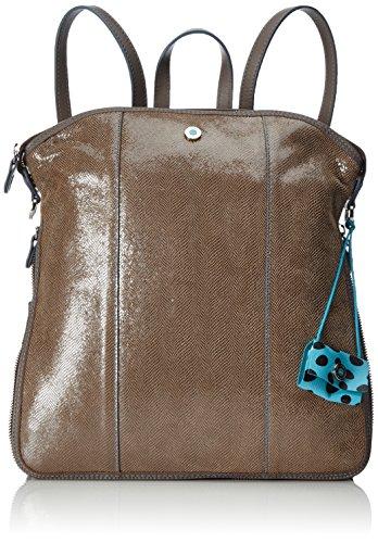 GabsLuigia - Bolso mochila Mujer, color beige, talla 14x33x32 cm (B x H x T)