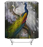 LAundNA Hand gezeichnet Stil kreative Heimat Ideen Polyester Gewebe Bad Duschvorhang mit Haken gesetzt , 3 , 150*180cm