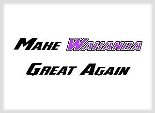 Make Wakanda Great Again Funny Parody FRIDGE MAGNET