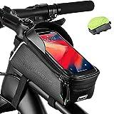 """ROCKBROS Bolsa Cuadro de Bicicleta Tubo Superior con Pantalla Táctil para Teléfono Móvil de 6,0"""" MTB Ciclismo"""