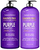 Best Grey Hair Shampoos - Natural Riches Purple Shampoo and Conditioner Set Sulfate Review