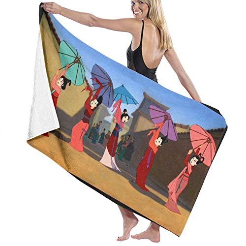 Mu-lan - Toalla de baño de viaje para playa, spa, yoga, súper absorbente, rápido y de secado suave, tamaño grande