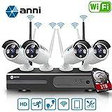 Anni 8CH 1080P Wireless Überwachungskamera HD NVR Kit Wifi...
