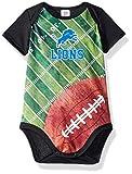 NFL Detroit Lions Unisex-Baby Short-Sleeve Bodysuit, Black, 6 Months