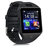 Smart Watch Bluetooth GT08, reloj de pulsera para Android Samsung HTC LG Sony Huawei (todas las funciones), iOS iPhone 5/5S/6/Plus, DZ09 With Camera black