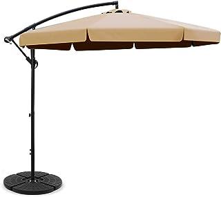 Instahut 3M Outdoor Garden Umbrella Umbrellas w/Base Beige