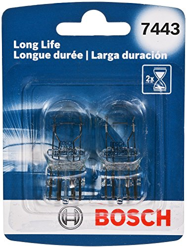 BOSCH 7443LL 7443 Long Life Upgrade Minature Bulb, Pack of 2