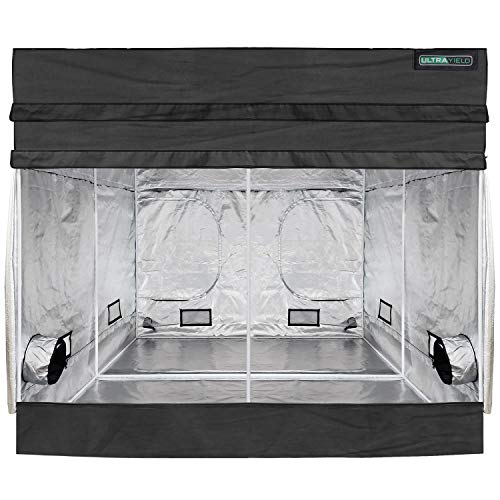 ULTRAYIELD 96'x96'x84' + 12' Extension Grow Tent - 1680D Mylar Professional Indoor Growing Tents - Use for Hydroponics Growing System (8' x 8')