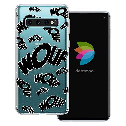 dessana Comic Zeichen transparente Schutzhülle Handy Case Cover Tasche für Samsung Galaxy S10 Wouf