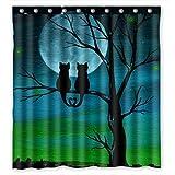 Generic Custom Einzigartige Cute Cat Design Wasserdicht Polyester Duschvorhang aus Stoff, 167,6x 182,9cm über 167cm x 183cm