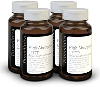 5HTP 300mg x 360 tablets (4 bottles with 90 tablets in each - 12 months supply. With 220mg Vitamin C. B6. and black pepper extract. SKU: 5H3x4