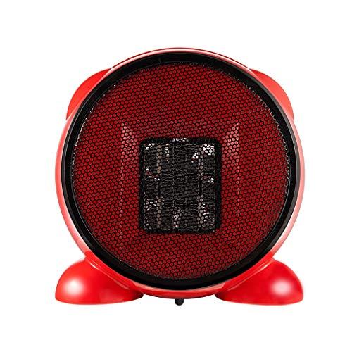 Aoyo Calefactores Nuevos Mini Calentadores Eléctricos, Calentador de Calefacción de Ventilador Práctico Controlado Portátil de Escritorio de Hogar de Invierno (220V, 500W) (Color : Red)