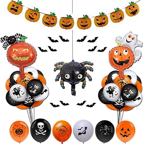 Halloween party decoration set Happy Halloween balloon flags, latex balloons, Halloween decoration items