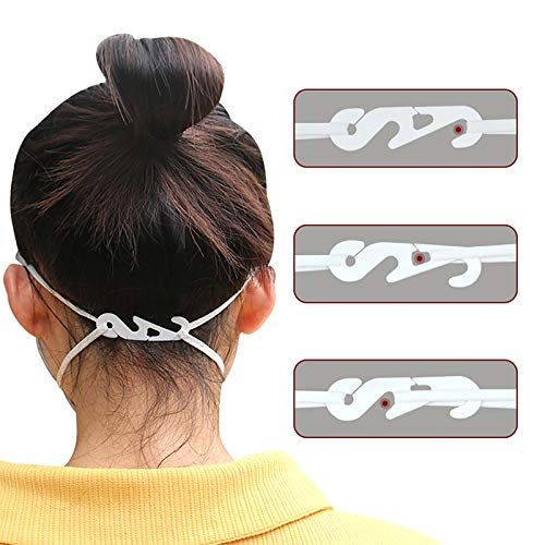 BSTQC Maskenhalter, 20 Stück, verstellbare Ohrgriffe, Verlängerungshaken, Gesichts-Abdeckung, Haken, Ohr-Tragen, Typ-Anpassung, Seilverlängerung, Schnalle für Mund-Gesichtsbedeckung