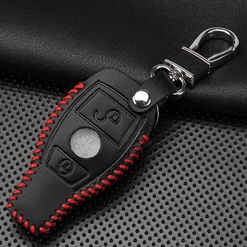 Custodia protettiva per portachiavi con custodia protettiva per portachiavi a 2 bottoni , Per accessori auto Mercedes Benz Classe C W205 GLC GLA