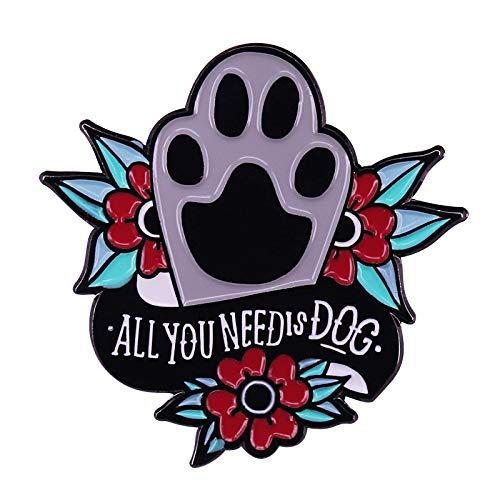 wangk Hund Emaille Pins Brosche sammeln Pet Paw Welpen Revers Abzeichen Männer Frauen Mode Schmuck Geschenke schmücken Rucksack Hut
