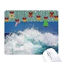 科学は自然の海の水の海の波の絵 ゲーム用スライドゴムのマウスパッドクリスマス