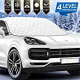 Chanvi [2021 Newest] Car Windshield Snow Ice Cover with 4 Layers Protection, Windshield Snow Ice Cover with Magnetic Edges Used for Snow Protection, Rain and Sun, Fits for Most Standard Cars & SUV.