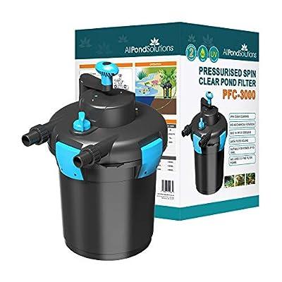 All Pond Solutions Pressurised Koi Fish Pond Filter/UV Steriliser for PFC-