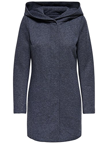 ONLY Damen Mantel Jacke SEDONA LIGHT COAT Parka Übergang Frühling (S, blau (Night Sky))