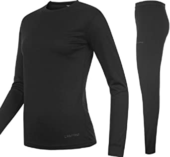 King Fisher Sports Base Layer térmica Top & Pantalones Junior, unisex de niños, color negro