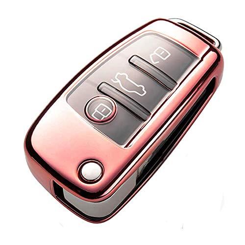 Funda para Llave de Coche para Audi, Funda para Llave de Coche, Compatible con Audi 3 Botones, Llave
