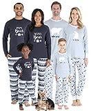 Sleepyheads Matching Family Christmas Pajama Sets, Polar Bear - Kids (SHM-4038-K-4T) Grey