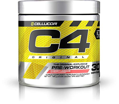 Cellucor C4 Original Pre Workout Powder Energy Preworkout, Cherry Limeade, 30 Servings - Pre-Workout Supplement for Men and Women