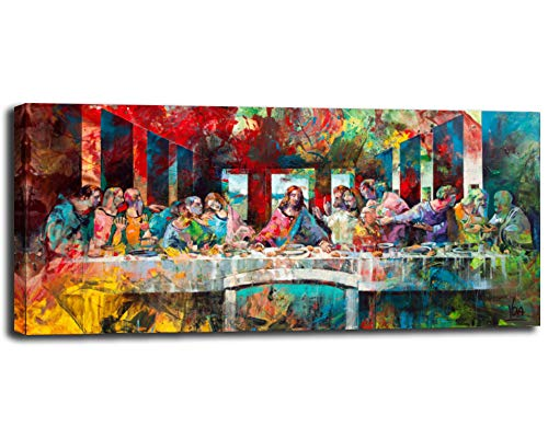 Abstract Canvas Prints Jesus Christ Wall Art Photos of Oil Painting The Last Supper Pop Art Modern Home Decor Poster for Living Room