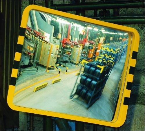 3099. Spiegel - industriële spiegel Eucryl G1, voor binnen- en beschermde buitenruimtes grootte 60,0 x 40,0 cm, roerdiameter 6 of 7 cm.