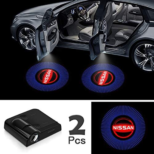 "JOJOY LUX 2 Pack Car Door Lights Logo Projector, Universal Wireless Car Door Led Projector Lights, Upgraded Car Door Welcome Logo Projector Lights with 3.M Sticker,for""N1SSAN"""