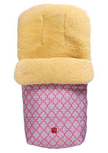 Natura - Saco de abrigo de piel de cordero Adorno rosa