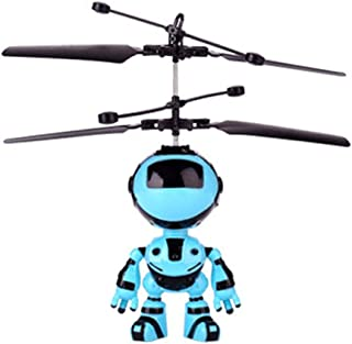 KOBWA RC Induction Robot Toy with USB Rechargeable Mini Interactive Infrared Induction Drone, RC Toys for Kids Boys Girls Indoor Games