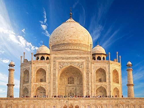 OAEC Puzzle 1500 Piezas Adultos De Madera Rompecabezas Taj Mahal Jigsaw Puzzle Clásica Challenging Teen Casual Puzzle Educational Game 87X58Cm