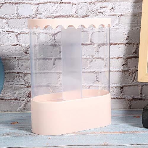 Dispensador de taza de papel fuerte, taza de papel desechable de plástico para cafés de oficina en casa (blanco, rosa)