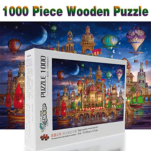 SiJOO Magic Castle Jigsaw Puzzle 1000 Piezas de Madera Puzzle Cartoon Children Jigsaw Toy