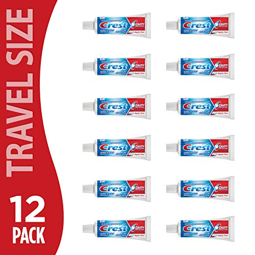 Crest Regular Cavity Protection Toothpaste .85 Ounce (12 Pack) | Deep Clean for Fresh Breath| Strengthens Teeth (B07NBQDGV6)