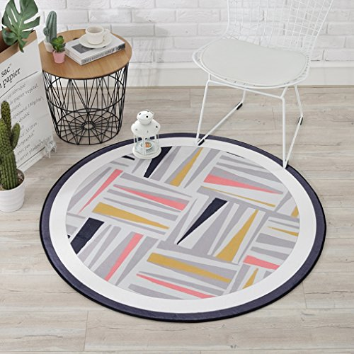 Good thing tapis Tapis, Tapis motifs géométriques tapis tapis rond, coussins pour enfants salle d'ordinateurs Chaises tapis de sol, salon chambre panier tapis rond ( Couleur : C , taille : Diameter 120CM )