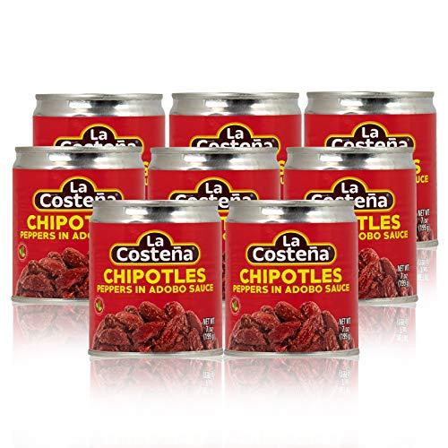 La Costena Bundle Chipotle Chili ganz 8 x 199g, 1590 ml