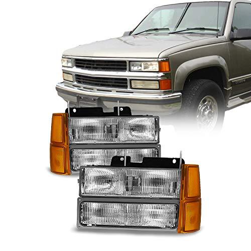 For 94-98 GMT400/480 Chevy GMC C/K Series Pickup Truck Suburban Blazer Tahoe Headlight + Bumper + Corner light