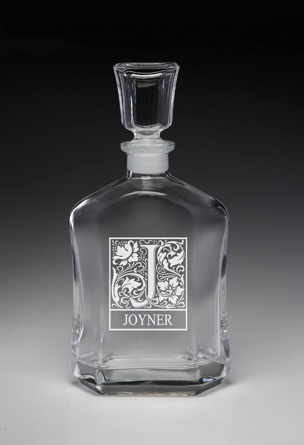 Joyner Personalized Initial Decanter Whiskey Long Beach Mall Max 86% OFF